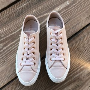 225a5e6ba034 Converse Shoes - Converse All Star Low Leather Bisque Rose Gold
